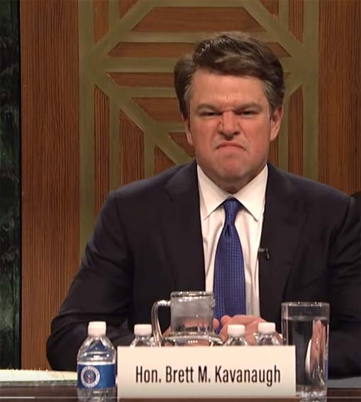 The Brett Kavanaugh circus is over. We won't forget your sins, Matt Damon