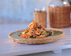 The kosher gourmet this chinese chicken salad combines sweet and the kosher gourmet this chinese chicken salad combines sweet and crunchy hot tangy with spicy for a simple to make main or appetizer forumfinder Gallery