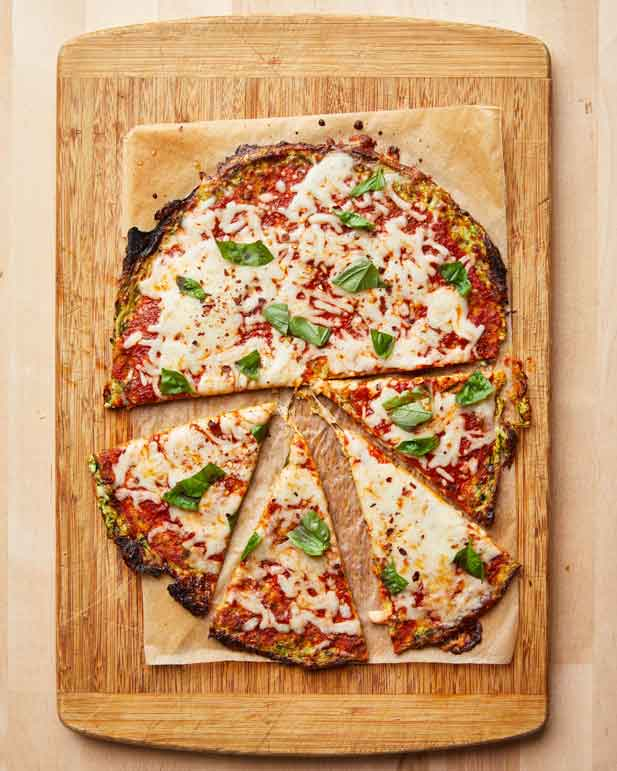 Crispy zucchini pizza crust is a low-carb, 5-ingredient win