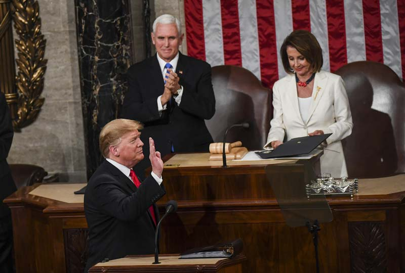 Chants and thunderous applause from Republicans in House chamber are a reminder of Trump's continued popularity with the party's base