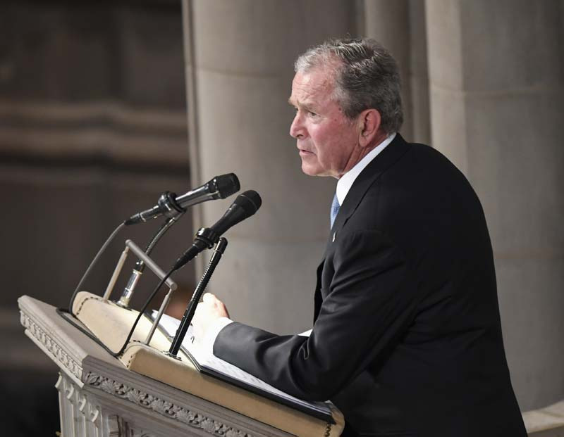 Republican candidates rely on stealth campaigner George W. Bush