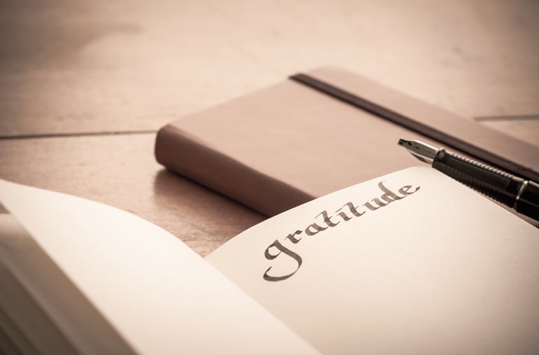 Simple gratitude leads to big changes