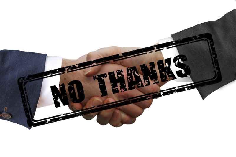 Goodbye to Handshakes --- and Good Riddance