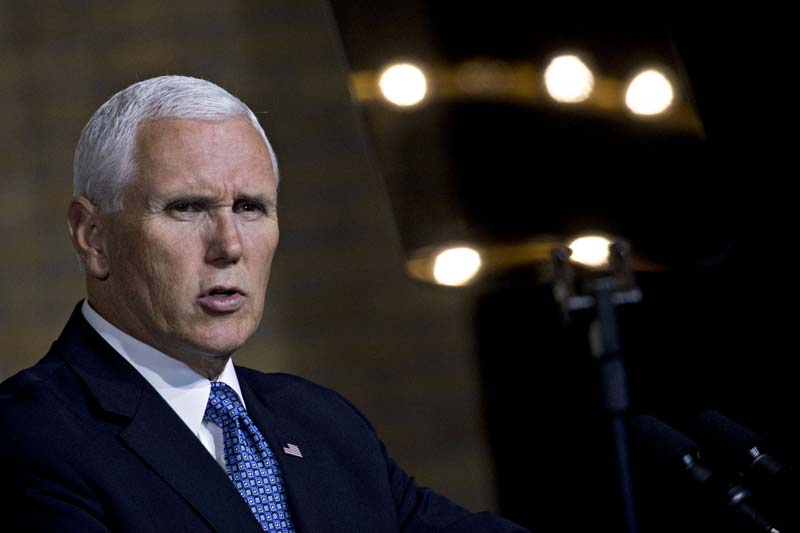 Pence leaves open the possibility of nuclear weapons in space