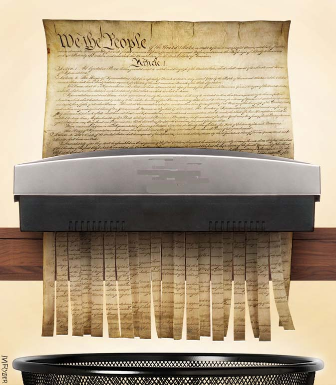 Trump isn't the biggest threat to the Constitution. Dems are