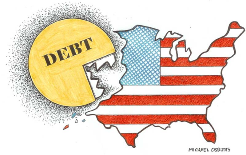 The reason the debt is so high? The US is at war --- with itself