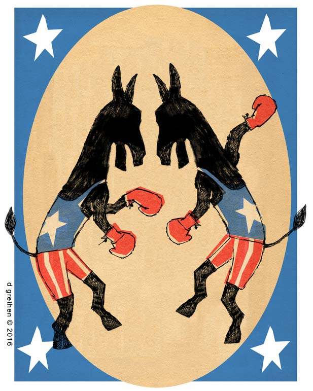 DEMS DEUX? Donkeys' reckoning, gamble