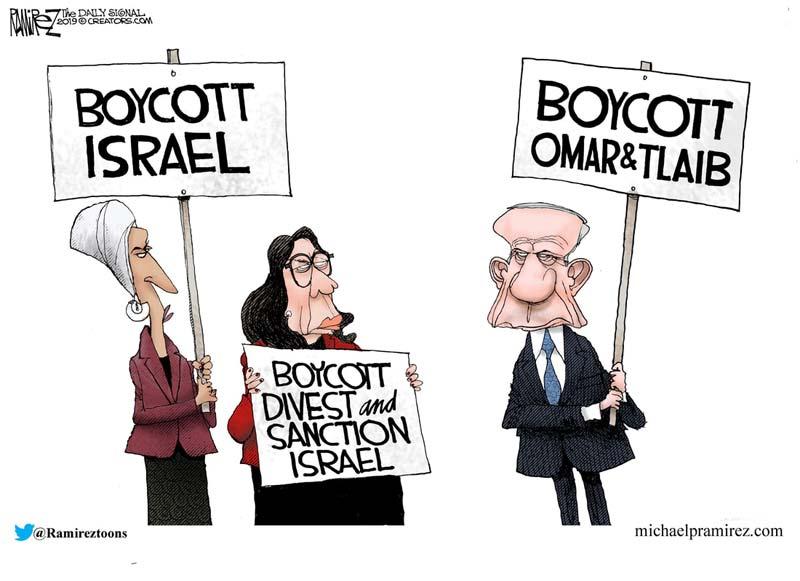 If Omar and Tlaib can boycott Israel, why can't Israel boycott them?